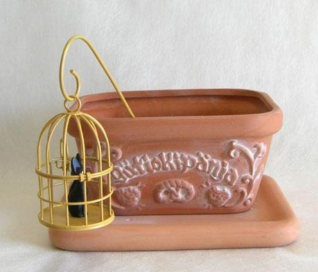 Ghibli - Kiki's Delivery Service - Jiji in cage - Pot & Pick & Seed & Soil Set -Mini Rose-2007(new)