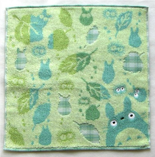 Mini Towel - asatuyu - green - Totoro - Ghibli - 2007 (new)