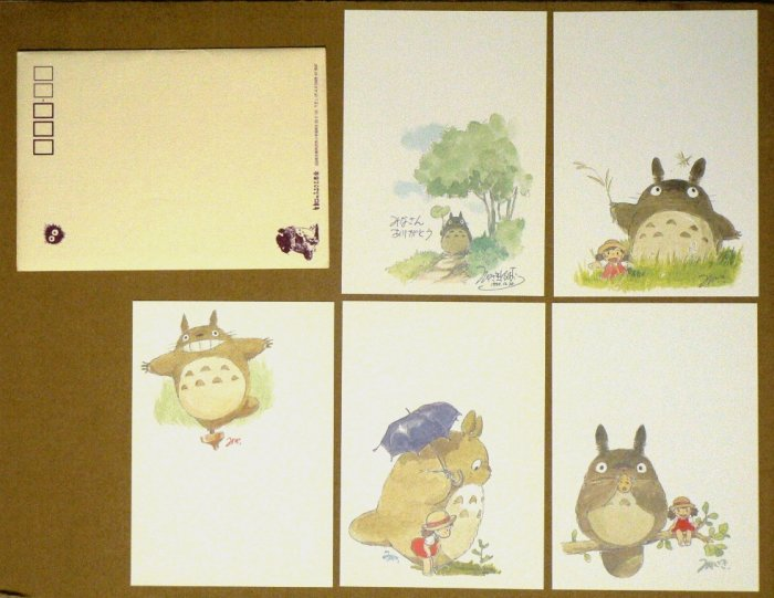 Ghibli - Totoro - Hayao Miyazaki's Drawings - 5 Postcards -VERY RARE-SOLD OUT(new)