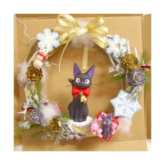 Ghibli - Kiki's Delivery Service - Jiji - Christmas Wreath - 2007 (new)