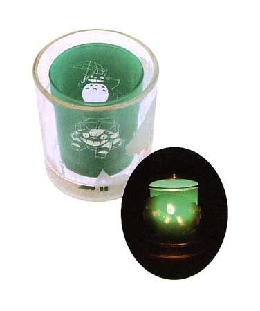 Ghibli - Totoro & Nekobus - Tealight & Candle Holder - Duet Glass - 2007 (new)