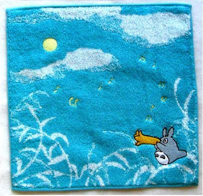 Ghibli - Totoro - Mini Towel - Embroidered - sky - light blue - 2007 (new)
