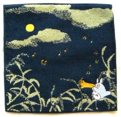 Ghibli - Totoro - Mini Towel - Embroidered - sky - navy - 2007 (new)