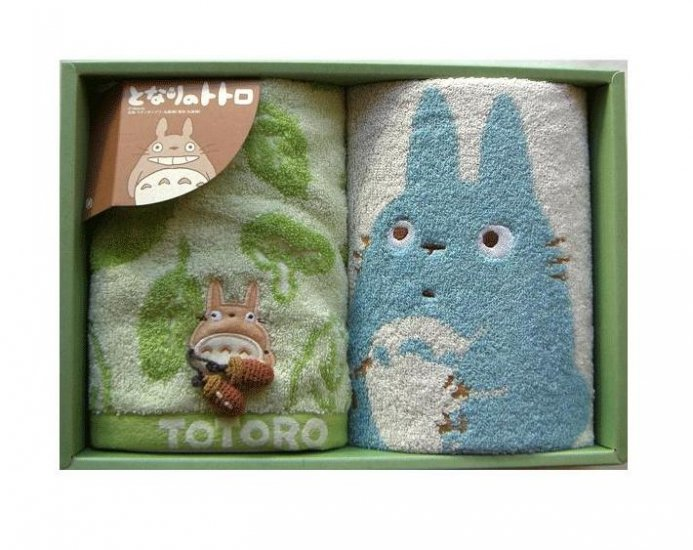 Towel Gift Set - 2 Hand Towel - Applique & Acorn Mascot - Totoro - 2007 (new)