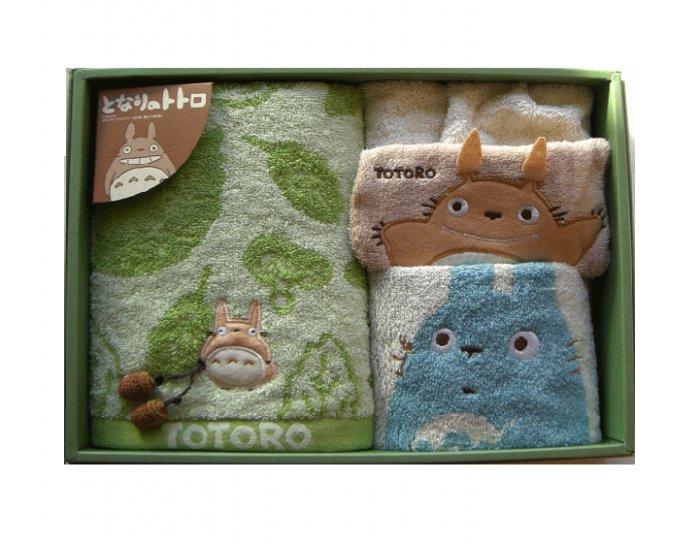 Towel Gift Set - Dress & Wash & Face Towel - Applique & Acorn Mascot - Totoro - 2007 (new)