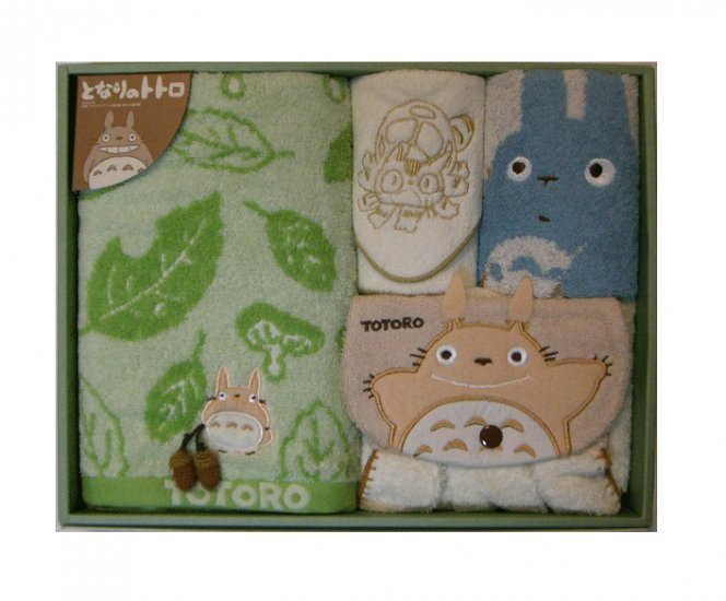 Towel Gift Set - Mini & Dress & Wash & Face - Applique & Acorn Mascot - Totoro - 2007 (new)