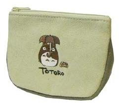 Ghibli - Totoro - Mini Pouch - Suede - Embroidered - out of production - RARE - SOLD (new)