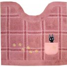 Toilet Mat - 55x60cm - Jiji & Footprint Embroidered - pink - Kiki's Delivery Service - Ghibli (new)
