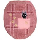 Toilet Lid Cover - regular - Jiji Embroidered - pink - Kiki's Delivery Service - Ghibli (new)