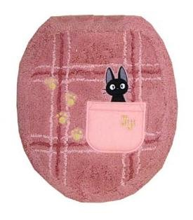 1 left - Toilet Lid Cover - Jiji Embroidered - pink - Kiki's Delivery Service - no production (new)