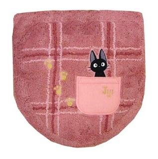 Toilet Lid Cover - Washlets - Jiji Embroidered - pink - Kiki's Delivery Service - Ghibli (new)
