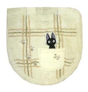 Toilet Lid Cover - Washlets - Jiji Embroidered - ivory - Kiki's Delivery Service - Ghibli (new)