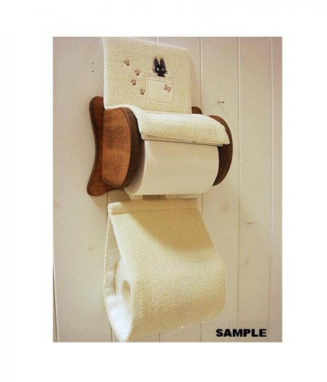 Toilet Paper Holder Cover - Jiji Embroidered - ivory - Kiki's Delivery Service (new)