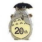 1 left - Pin Badge in Case - Totoro 20th Aniversary - Totoro & Kurosuke -2008- no production (new)