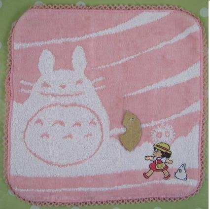 Ghibli - Totoro - Mini Towel - Sho Totoro Applique & Mei Embroidered - cloud - pink - 2008 (new)