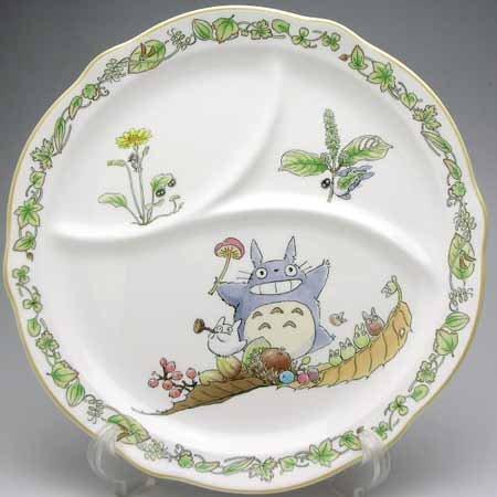 Partition Plate - 22.8cm - Bone China - Noritake - Totoro - Ghibli (new)