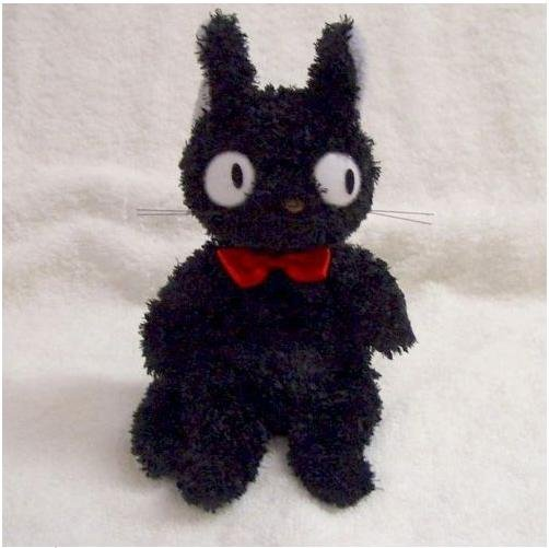 Plush Doll (S) - 18cm - Fluffy - Jiji - Kiki's Delivery Service - Ghibli - Sun Arrow - 2008 (new)