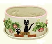 Ghibli - Kiki's Delivery Service - Jiji - Planter Pot & Water Tray - Hakuun Ceramics - 2008 (new)