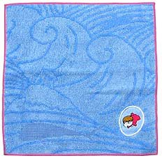Mini Towel - Ponyo Embroidered - Jacquard Weaving - Ghibli - 2008 (new)