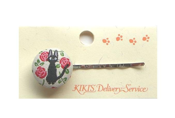 Ghibli - Kiki's Delivery Service - Jiji - Hair Pin - Ornament - weaved design - rose - 2008 (new)