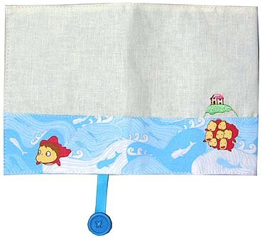 1 left - Book Cover - Embroidered - Ponyo - Ghibli - 2008 - out of production (new)