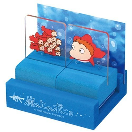 Stand Rubber Stamp Set - 2 Stamps - made in Japan - Ponyo - Ghibli - 2008 (new)