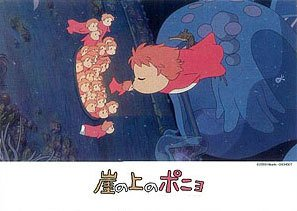 108 pieces Jigsaw Puzzle - chu - Ponyo & Little Sisters - Ghibli - Ensky - 2008 (new)