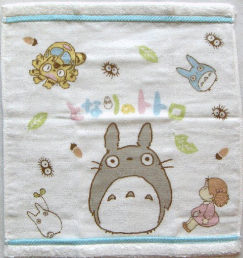 Hand Towel - 34x36cm - Gauze & Pile - Milkcrown - made in Japan - Totoro - Ghibli - 2008 (new)