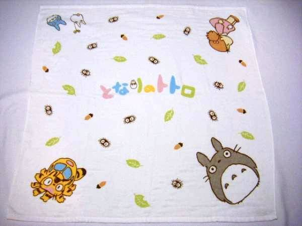 Towel Blanket - 90x90cm - Gauze & Pile - Milkcrown - made in Japan - Totoro - Ghibli - 2008 (new)