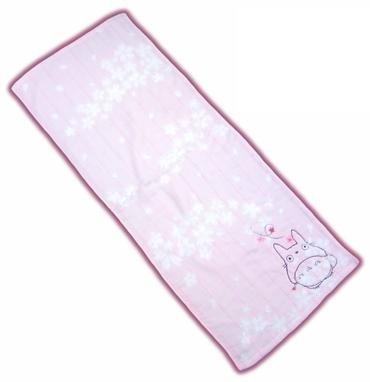 Ghibli - Totoro - Face Towel - Totoro & Sakura Embroidered -NonTwistedThread-sakura-pink-2008(new)