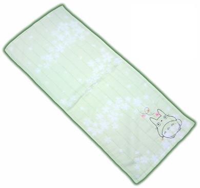 Ghibli - Totoro - Face Towel - Totoro & Sakura Embroidered -NonTwistedThread-sakura-green-2008(new)
