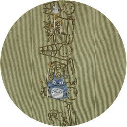 Ghibli - Chu & Sho Totoro - Necktie - Silk - Jacquard - drawing - yellow - made in Japan -2008 (new)
