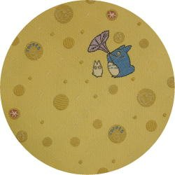 Ghibli - Chu & Sho Totoro - Necktie - Silk - Jacquard - bubble - cream - made in Japan - 2008 (new)