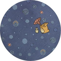Ghibli - Chu & Sho Totoro - Necktie - Silk - Jacquard - bubble - blue - made in Japan - 2008 (new)