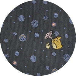 Ghibli - Chu & Sho Totoro - Necktie - Silk - Jacquard - bubble - navy - made in Japan - 2008 (new)