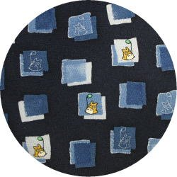 Ghibli - Totoro - Necktie - Silk - square - navy - made in Japan - 2008 (new)