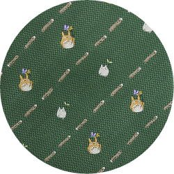 Ghibli - Chu & Sho Totoro - Necktie - Silk - Jacquard - stripe - green - made in Japan - 2008 (new)