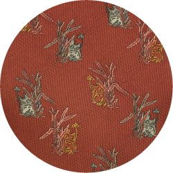 Ghibli - Chu & Sho Totoro - Necktie - Silk - Jacquard - peek - crimson - made in Japan - 2008 (new)
