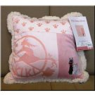 Ghibli - Kiki&#39;s Delivery Service - Jiji & Lily - Cushion - 30x30cm - 2008 (new)