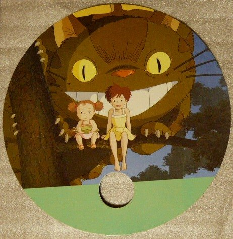 Ghibli - Totoro - Nekobus & Satsuki & Mei -Paper Fan- Animage 1989-outofproduction- RARE-SOLD(new)