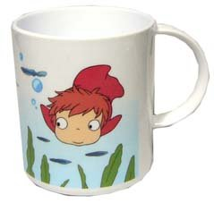 Cup - polypropylene - dishwasher & microwave - made in Japan - Ponyo - Ghibi - 2008 (new)