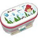 2 Tier Lunch Bento Box & Chopsticks & Belt- dishwasher & microwave- made in Japan - Ponyo -2008(new)
