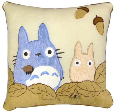 SOLD - Cushion - 45x45cm - Chu & Sho Totoro - 2008 - no production (new)
