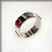 Ring #12 - Ruby Synthetic- Sterling Silver 950 - Howl's Moving Castle -no production (new)