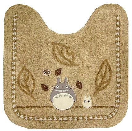 Toilet Mat - Applique - beige - Totoro & Sho Totoro & Kurosuke - Ghibli - 2008 (new)