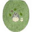 Toilet Lid Cover - regular - green - Totoro & Sho Totoro & Kurosuke - Ghibli - 2008 (new)