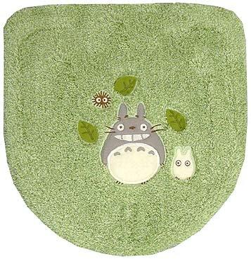 Toilet Lid Cover - Washlets - green - Totoro & Sho Totoro & Kurosuke - Ghibli - 2008 (new)