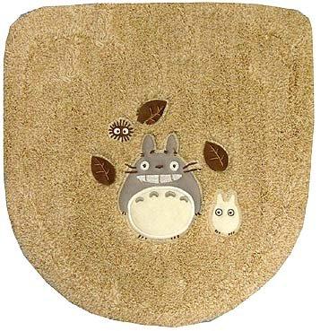 Toilet Lid Cover - Washlets - beige - Totoro & Sho Totoro & Kurosuke - Ghibli - 2008 (new)