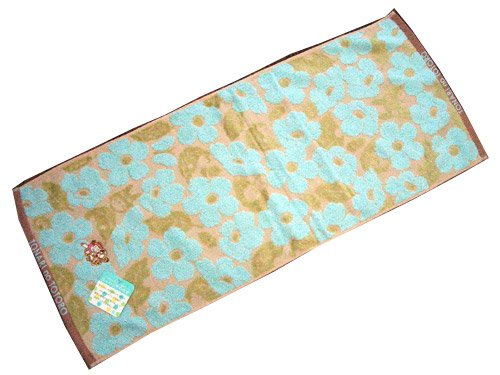 Ghibli - Totoro - Face Towel - Nekobus & Mei Embroidered - Non Twisted Thread - kadan - blue (new)