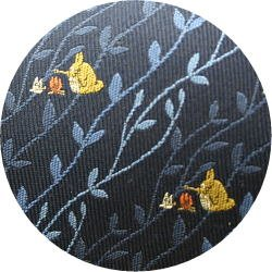 Ghibli - Totoro - Necktie - Silk - Jacquard Weaving - fire- navy - made in Japan - 2008 (new)